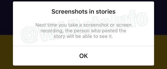Screenshot Instagram Story