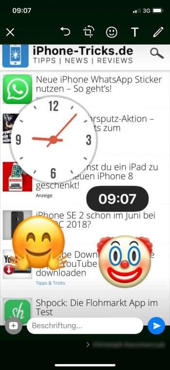 WhatsApp Sticker nutzen am iPhone