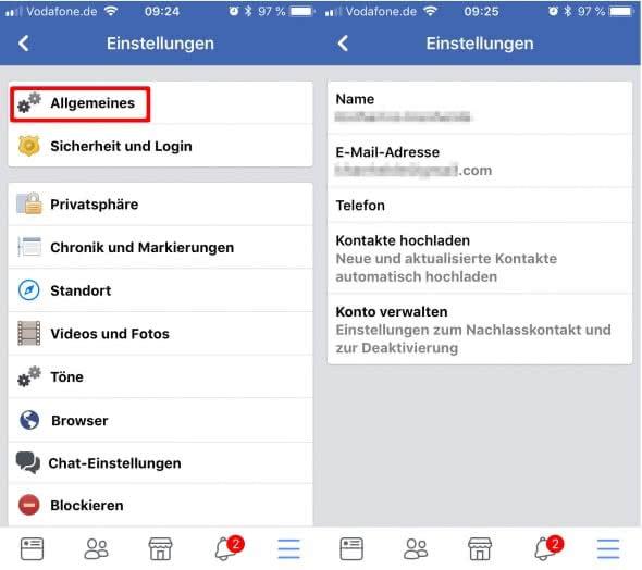 Facebook-Account dauerhaft löschen - Allgemeines