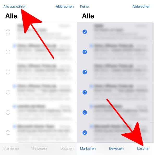 Am Iphone Alle Mails Loschen So Geht S