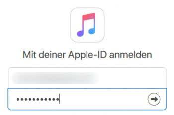 Apple-ID und Passwort in Apple Music Toolbox eingeben
