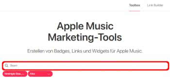 Musik suchen in der Apple Music Toolbox