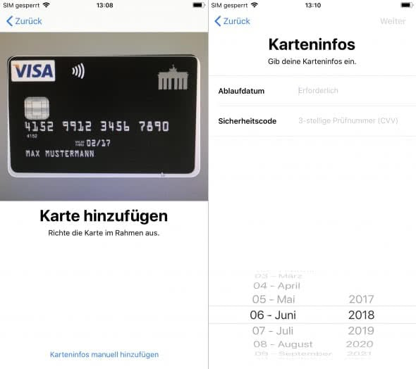 Apple Pay einrichten am iPhone