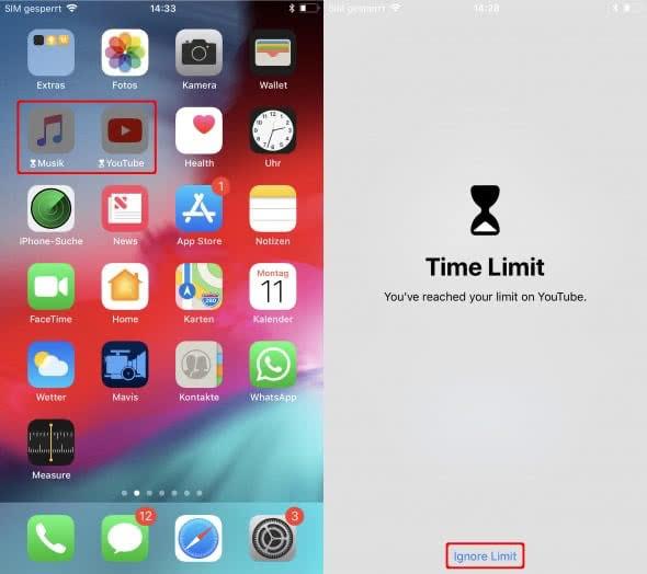App-Limit ignorieren
