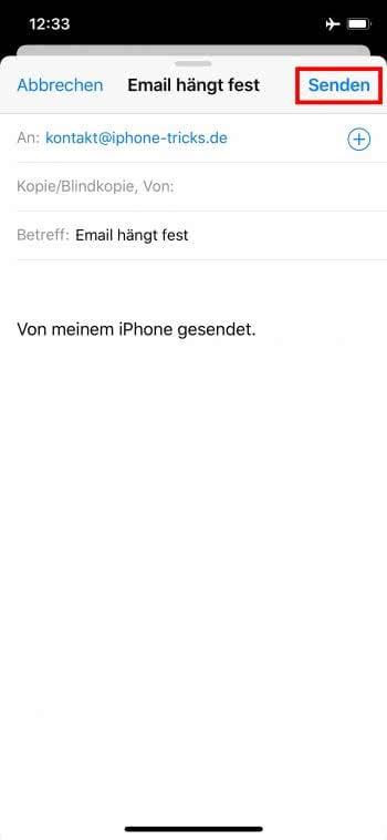 Email erneut senden