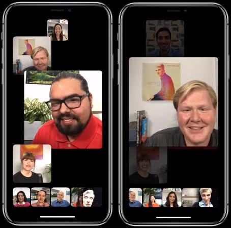 FaceTime Gruppenanruf auf dem iPhone