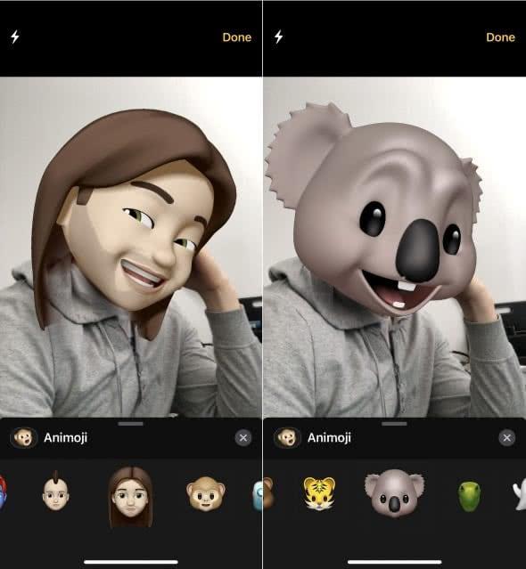 Animojis in der iMessage-Kamera nutzen