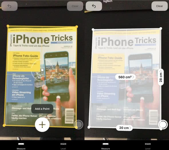 Messen mit der Measure-App auf dem iPhone