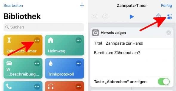 Siri-Kurzbefehle aktivieren