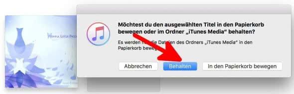 iPhone Klingelton erstellen mit iTunes am Mac – AAC-Datei löschen