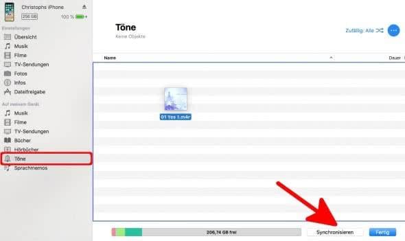 iPhone Klingelton erstellen mit iTunes am Mac – Töne mit iPhone synchronisieren