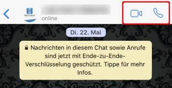 WhatsApp Sprach- oder Videoanruf starten