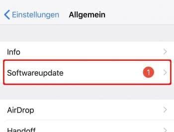 iOS-Version aktualisieren