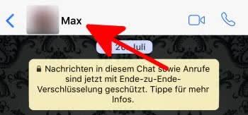 WhatsApp Kontakt löschen