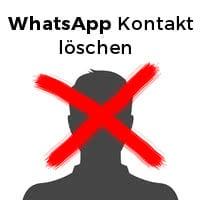 WhatsApp Kontakt löschen Logo