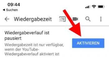 Wiedergaberverlauf in YouTube aktivieren