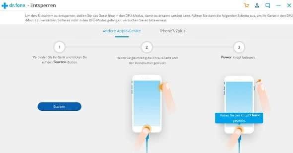 iPhone in den DFU-Modus versetzen