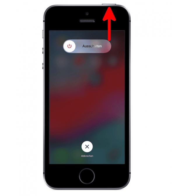 iPhone SE ausschalten