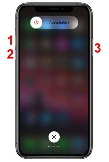 iPhone XS Neustart