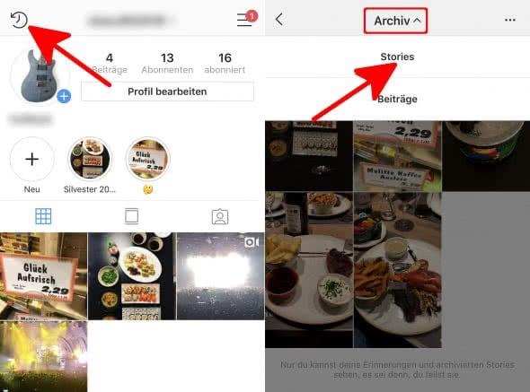 Instagram Story-Archiv