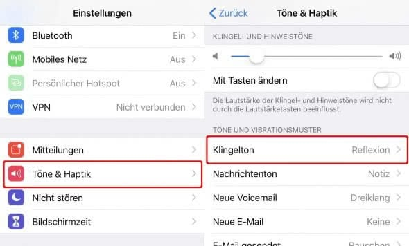 iPhone Klingelton ändern