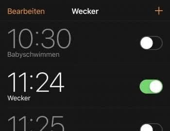 iPhone Wecker