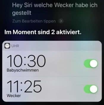 iPhone Wecker stellen mit Siri