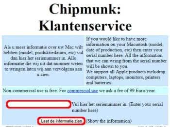 iPhone Alter bestimmen mit Chipmunk Online-Tool