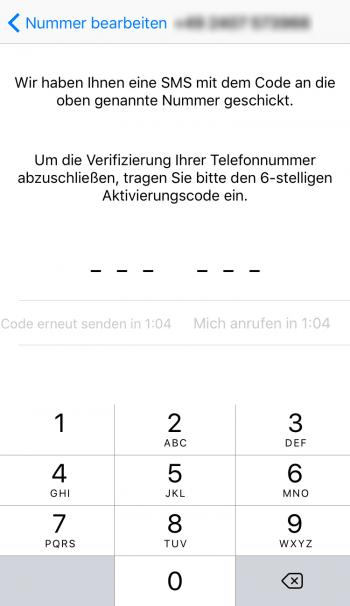 Code Verifizierung WhatsApp