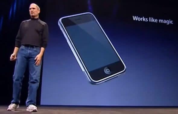 Steve Jobs bei iPhone-Keynote