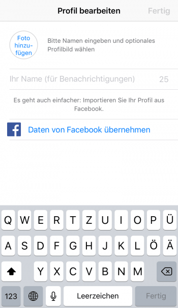 Profil bearbeiten WhatsApp