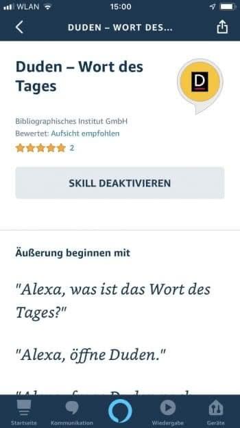 Duden – Wort des Tages Alexa Skill