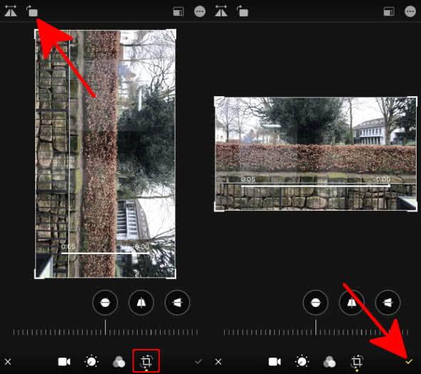 iPhone Video drehen in der Fotos-App