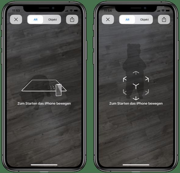 iPhone AR Ansicht konfigurieren