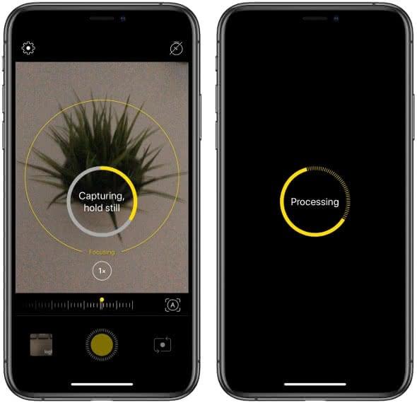 Bildbearbeitung in der NeuralCam-App am iPhone