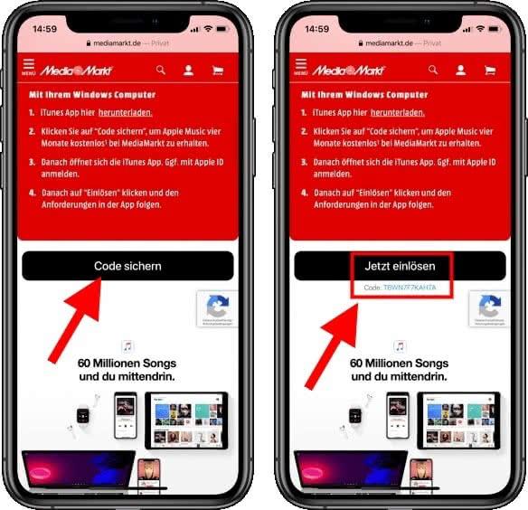 Apple Music Gutscheincode