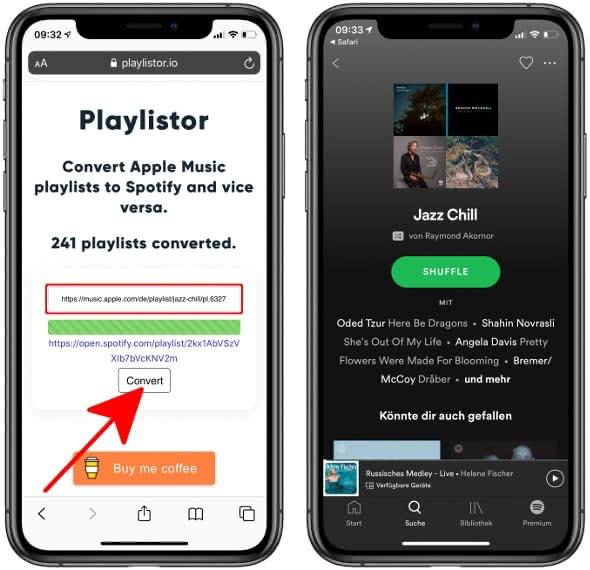 Apple Music Playlist zu Spotify übertragen