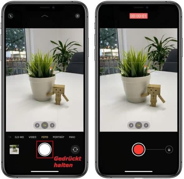 QuickTake Video auf dem iPhone erstellen