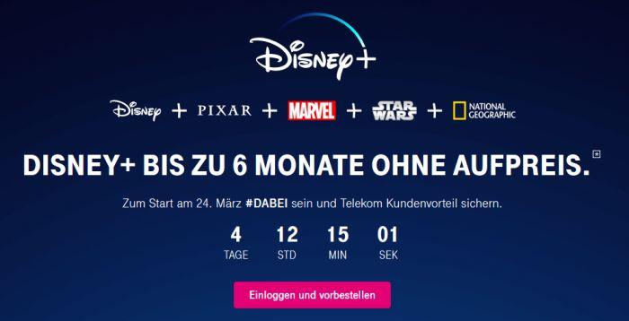 Disney+ 6 Monate kostenlos bei der Telekom