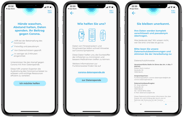 Corona Datenspende-App