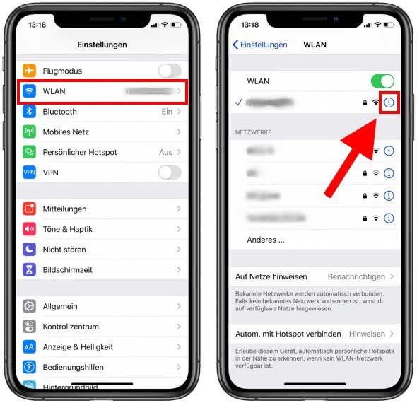 iPhone IP Adresse herausfinden