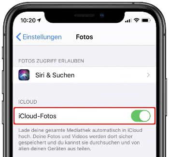 iCloud-Fotos aktivieren