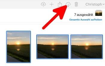 iCloud Fotos herunterladen