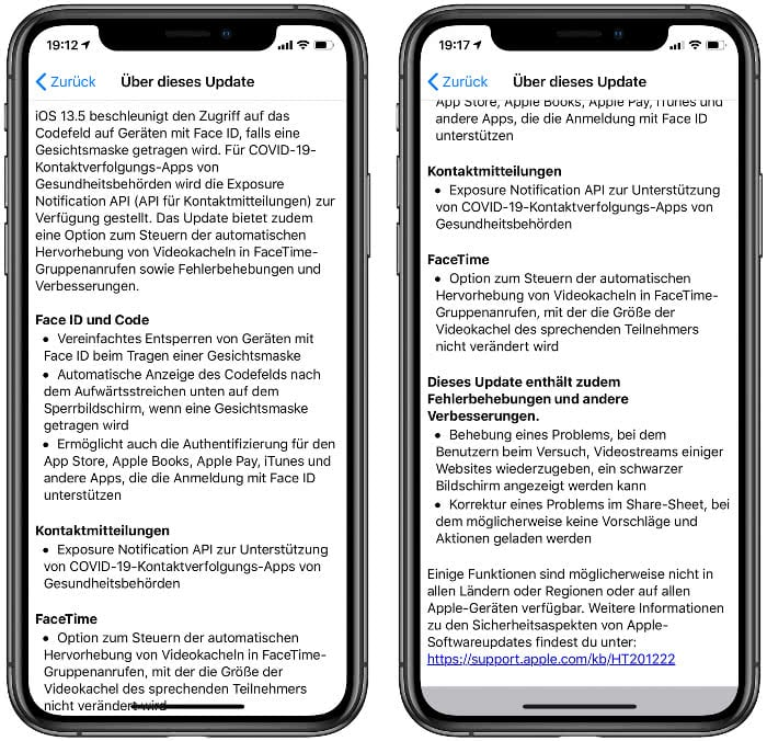 iOS 13.5 Release Notes