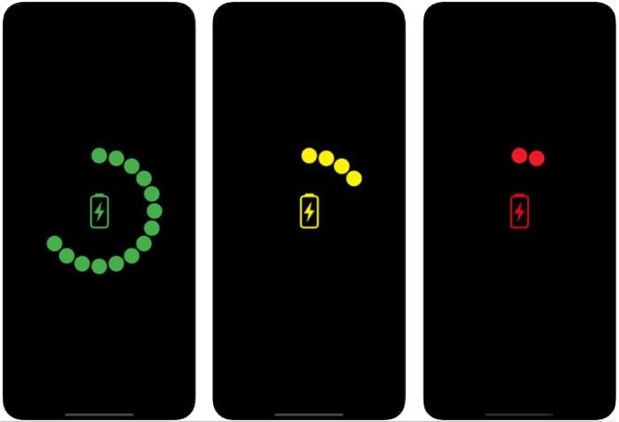 Akkustand Anzeige in der iSafeCharge App
