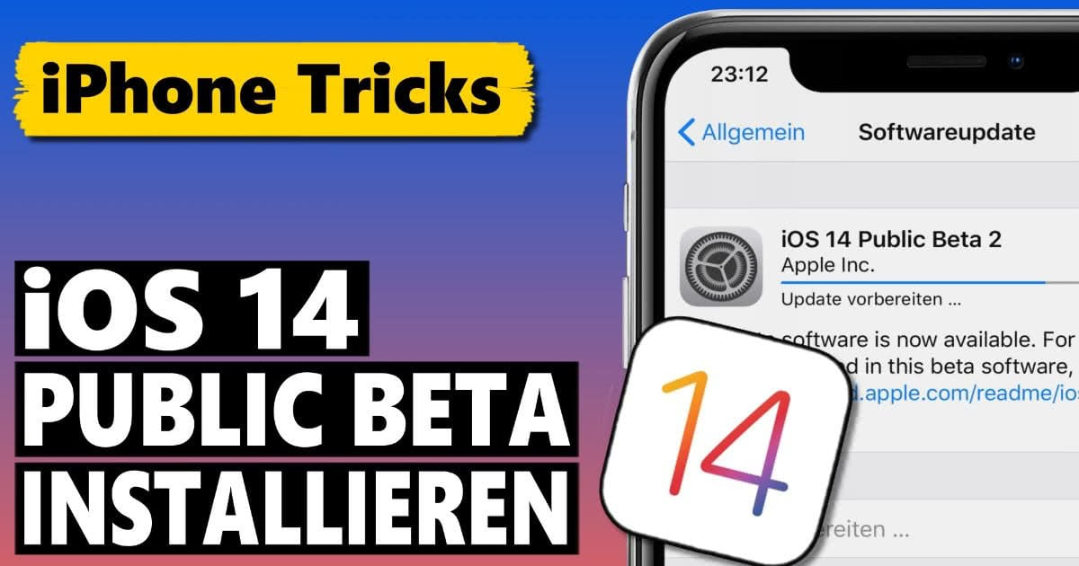 iOS 14 Public Beta Download und Installation