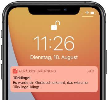 Push-Mitteilung bei Geräuscherkennung am iPhone