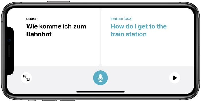 Unterhaltungsmodus in der Übersetzen-App