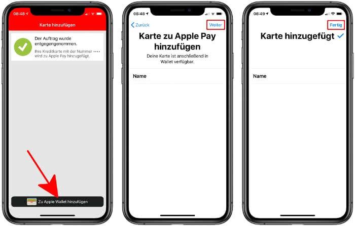 Sparkassen-Girocard zu Apple Pay hinzufügen
