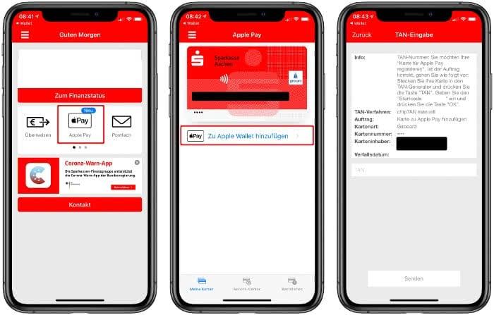 Girocard in der Sparkassen-App zu Apple Wallet hinzufügen